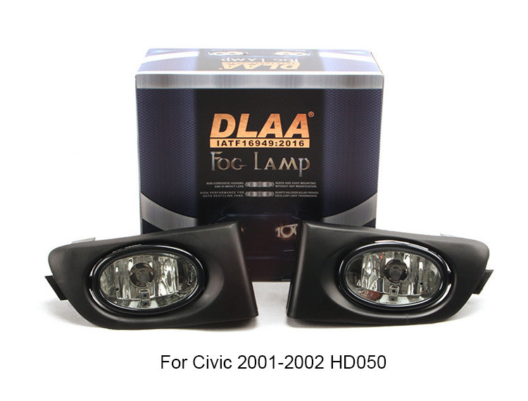 DLAA  Fog Lamp front Set Bumper Lights For Civic 2001-2002 HD050