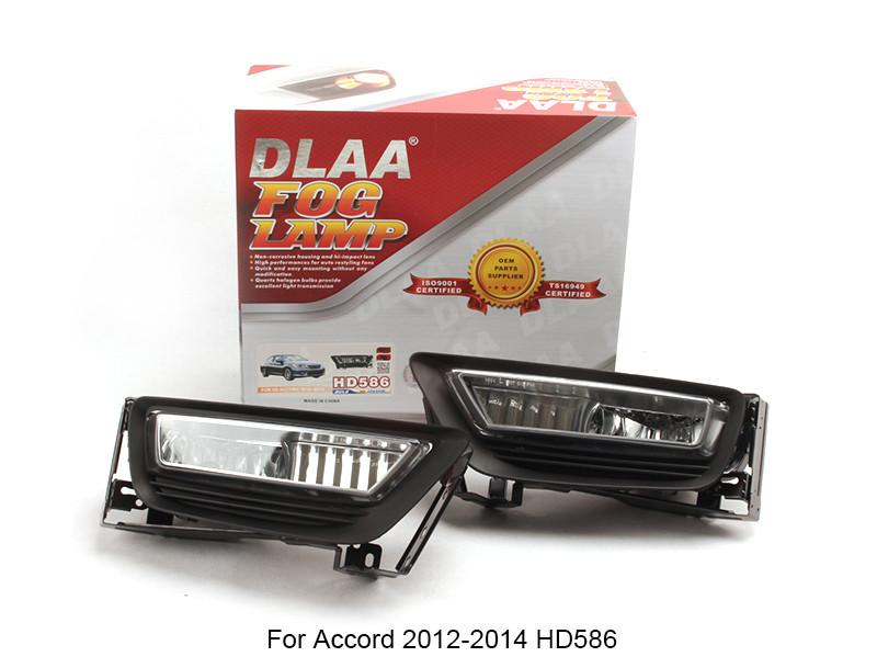 DLAA Fog Lamp Set Bumper Lamp For Accord 2012-2014 HD586