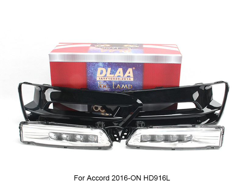 DLAA  Fog Lamp Set Bumper Lamp With LED For Accord 2016-ON HD916L
