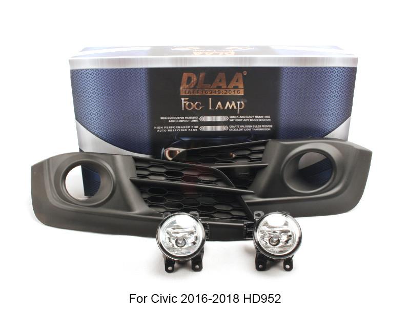 DLAA  Fog Lamp Set Bumper Lamp For Civic 2016-2018 HD952