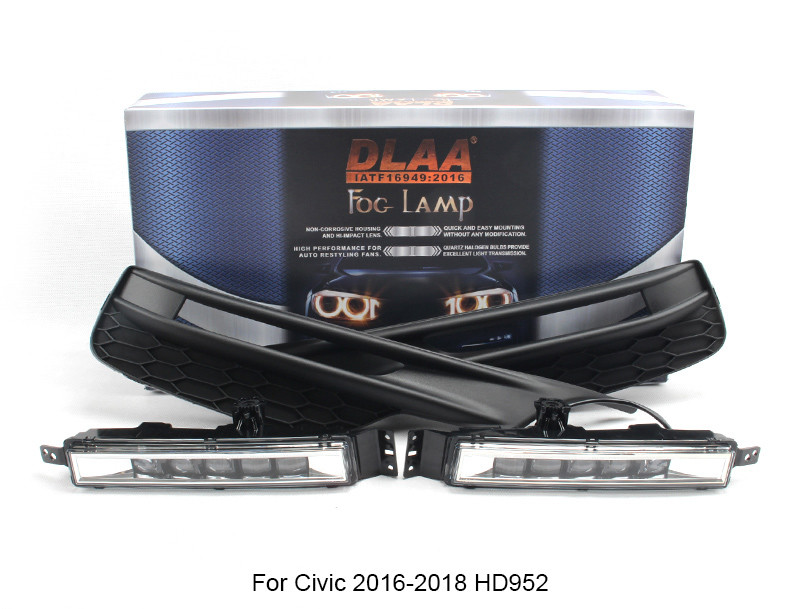 DLAA  Fog Lights Set Bumper Lamp With LED For Accord 2016-ON HD986L