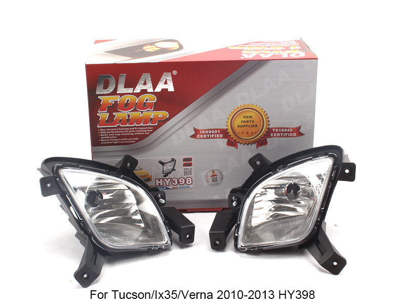 DLAA  Fog Lamp front Set Bumper Lamp For Tucson/Ix35/Verna 2010-2013 HY398