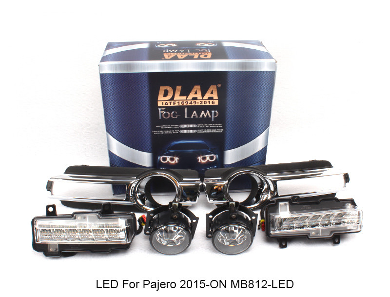 DLAA  Fog Lamp Set Bumper Lamp With LED For Pajero 2015-ON MB812-LED