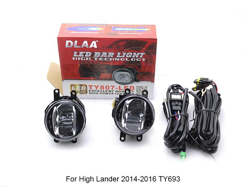 DLAA Fog Light Set Bumper Lamp LED Universal lamp For Toyota cars TY807-LED