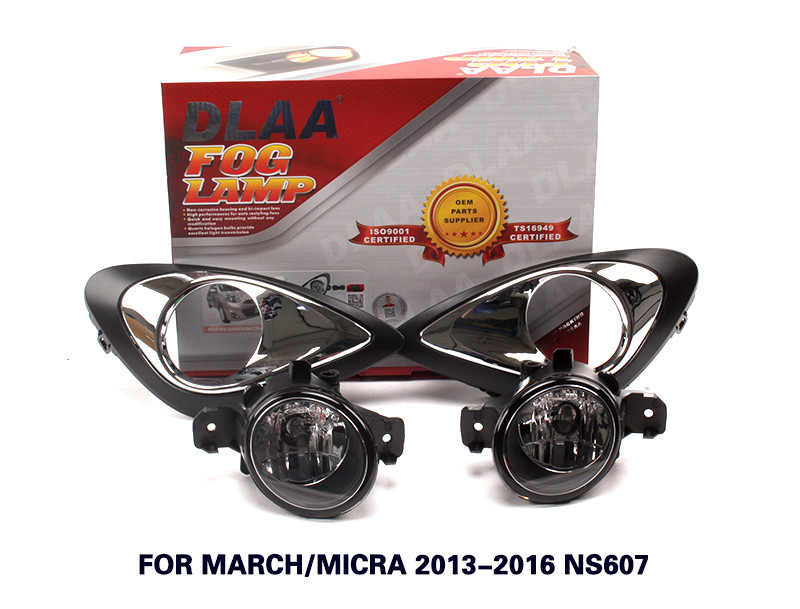 DLAA Fog Lamp Set Bumper Lamp For March/Micra 2013-2016 NS607