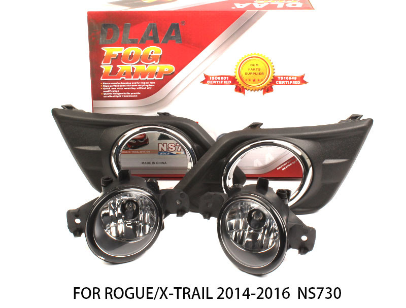 DLAA  Fog Lamp Set Bumper Lights with wire harness For Rogue/X-TRAIL 2014-2016