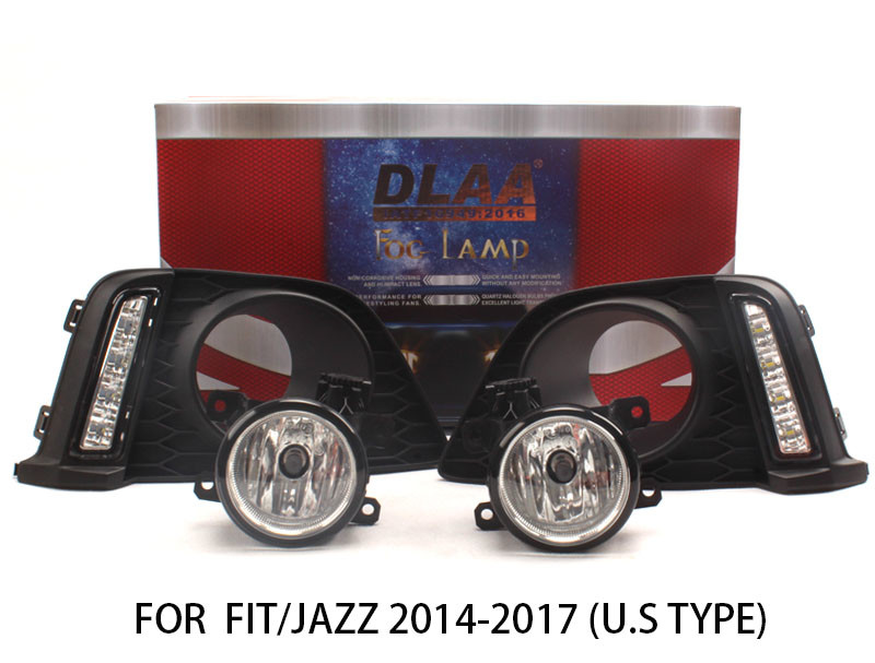 DLAA  Fog Lights Set Bumper Lamp With LED For FIT/JAZZ 2014-2017(U.S TYPE)