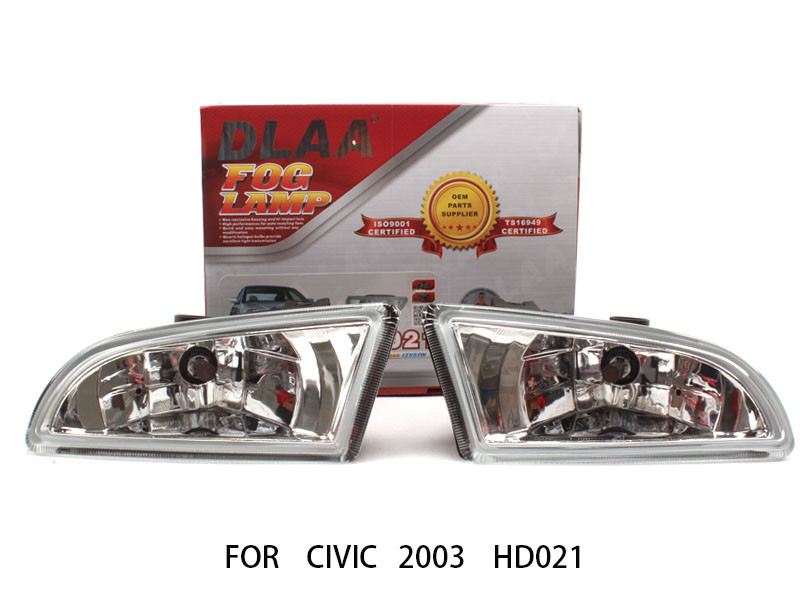 DLAA  Fog Lamp Set Bumper Lights For Civic 2003 HD021