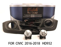 DLAA  Fog Lights Set Bumper Lamp FOR CIVIC 2016-2018