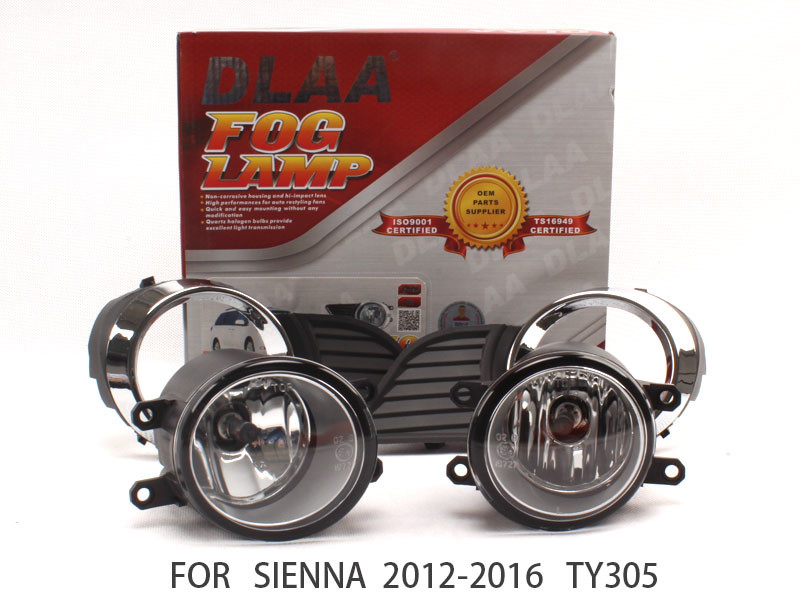 DLAA  Fog Lights Set Bumper Lamp FOR Sienna 2012-2016 TY350