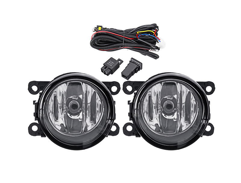 DLAA  FRONT BUMPER FOG LIGHTS  H11 Fog lamps with HARNESS PAIR FOR MITSUBISHI OUTLANDER SPORT/RVR/ASX