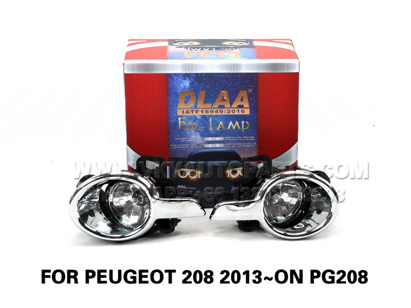 DLAA  Fog Lamp Set Bumper Lights FOR Peugeot 208 2013~ON PG208