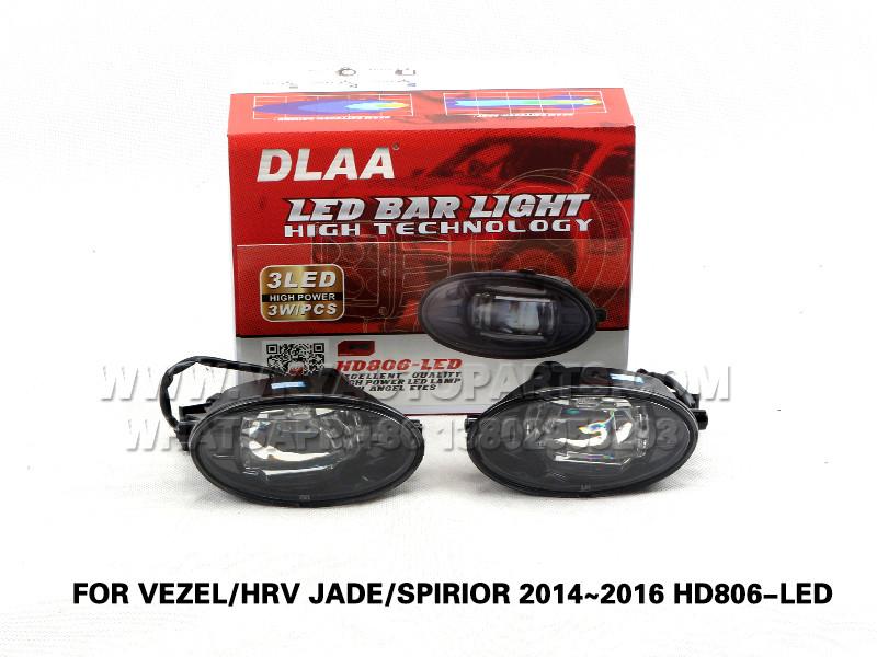 DLAA LED Fog Lamp Set Bumper Lights FOR VEZEL HRV JADE SPIRIOR 2014~2016 HD806-LED
