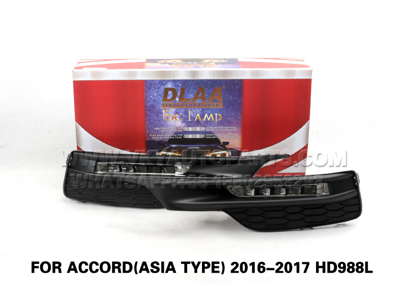 DLAA  Fog Lamp Set Bumper Lights FOR ACCORD(ASIA TYPE) 2016-2017 HD988L
