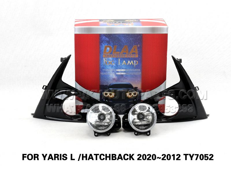 DLAA  Fog Lamp Set  Bumper Lights FOR YARIS L  HATCHBACK 2020~2012 TY7052