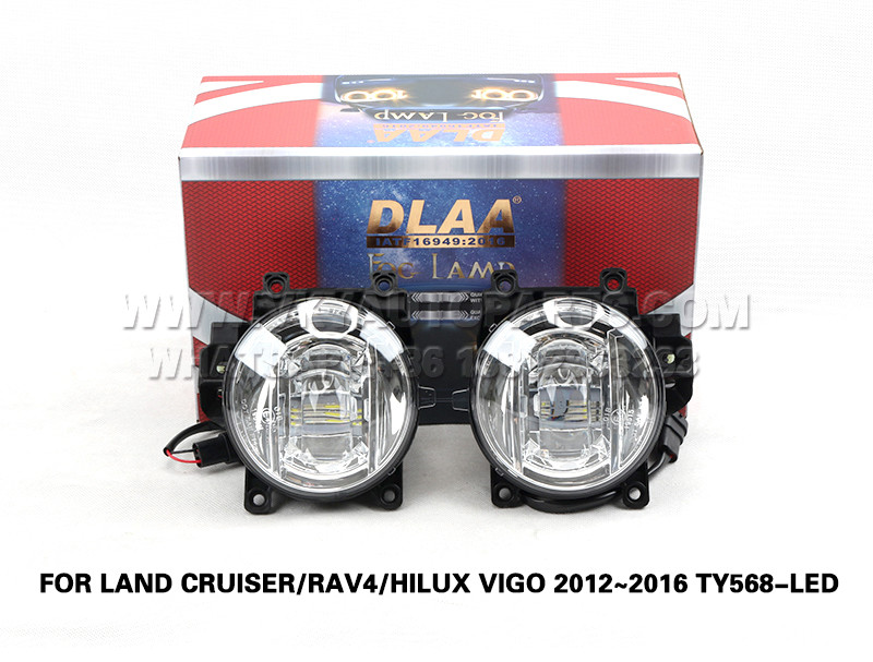DLAA  Fog Lamp Set Bumper lights FOR LAND CRUISER RAV4 HILUX VIGO 2012~2016 TY568-LED