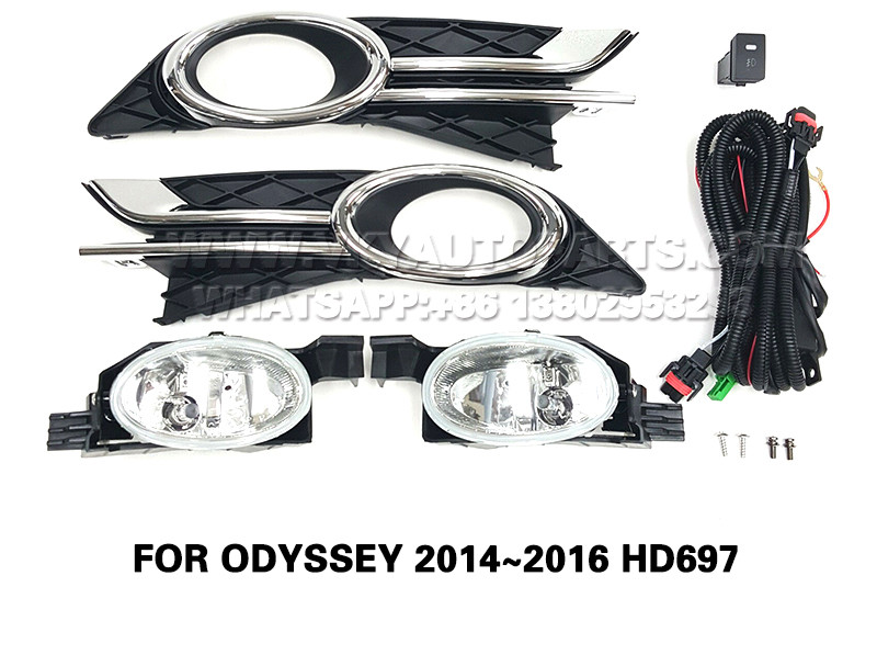 DLAA  Fog Lamp Set Bumper Lights FOR ODYSSEY 2014~2016 HD697