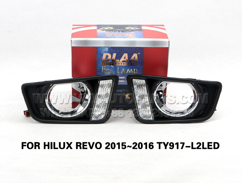 DLAA  Fog Lamp Set Bumper Lights drl led daytime fog light FOR HILUX REVO 2015~2016 TY917-L2LED
