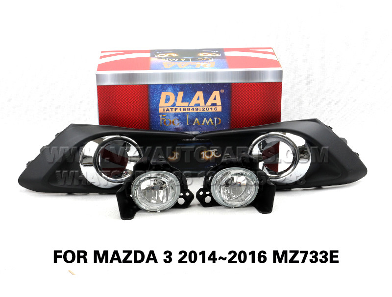 DLAA  Fog Lamp Set Bumper Lights FOR MAZDA 3 2014~2016 MZ733E