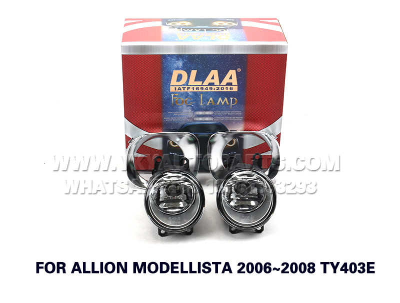 DLAA Front Fog Lamps Set Bumper Lights FOR ALLION MODELLISTA 2006~2008 TY403E