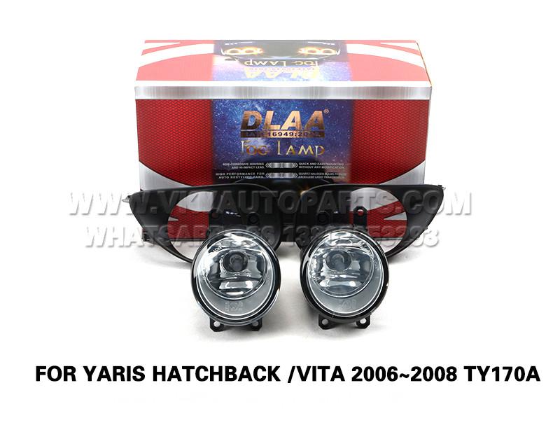 DLAA  Front Fog Lamp Set Bumper Lights FOR YARIS HATCHBACK VITA 2006~2008 TY170A