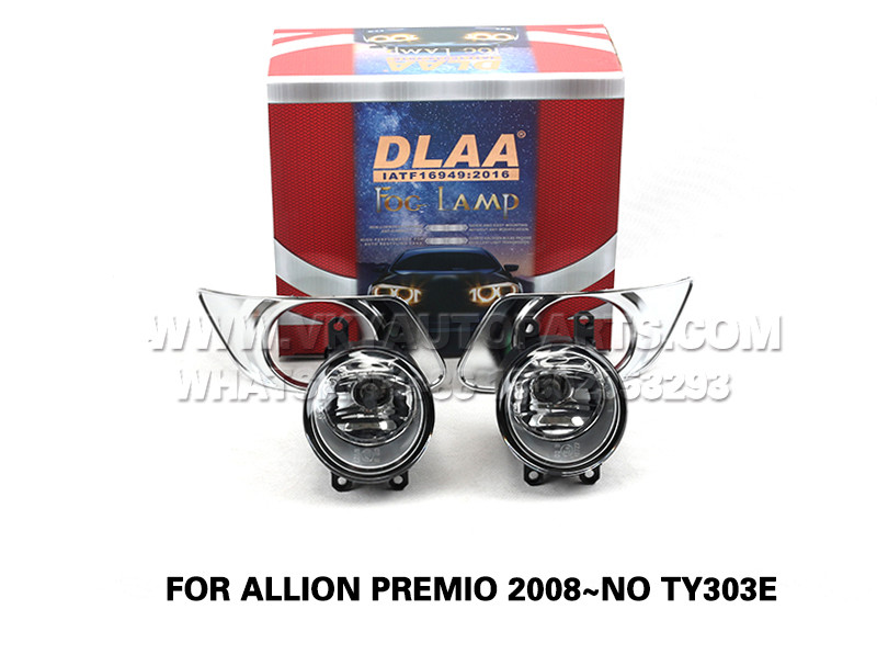 DLAA Front Fog Lamps Set Bumper Lights FOR ALLION PREMIO 2008~NO TY303E