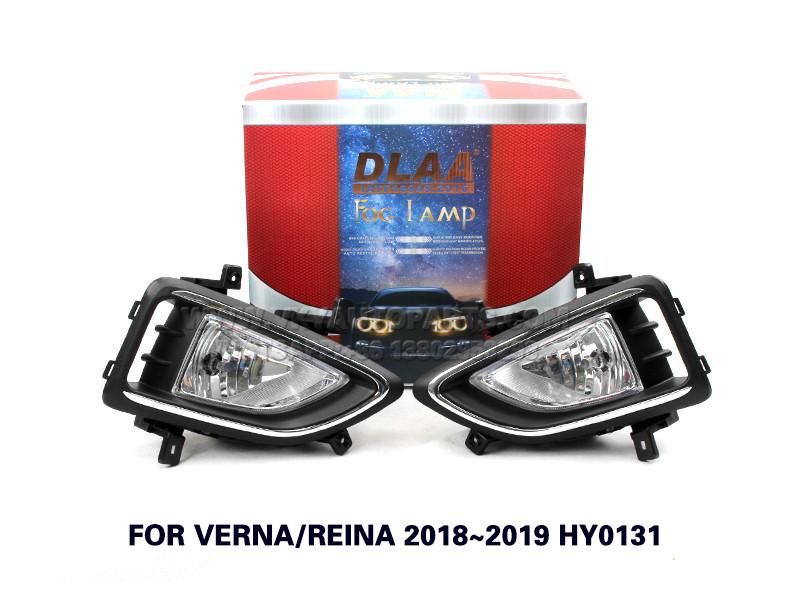 DLAA Fog Lights Set Bumper Lamp FOR VERNA REINA 2018~2019 HY0131