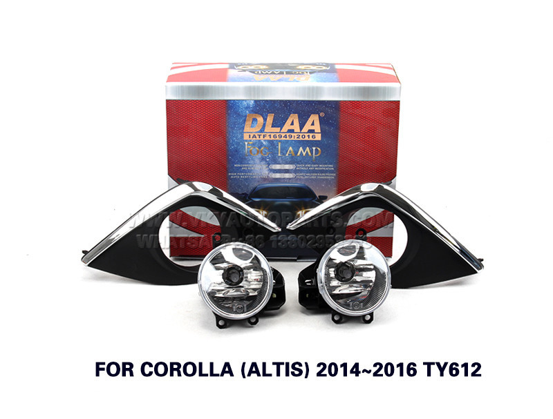 DLAA Fog Lamps front Set Bumper Lights with wire FOR COROLLA (ALTIS) 2014~2016 TY612
