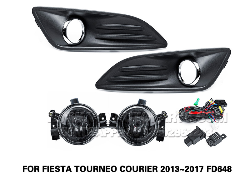DLAA  Fog Lamp front Set Bumper Lights FOR FIESTA TOURNEO COURIER 2013~2017 FD648