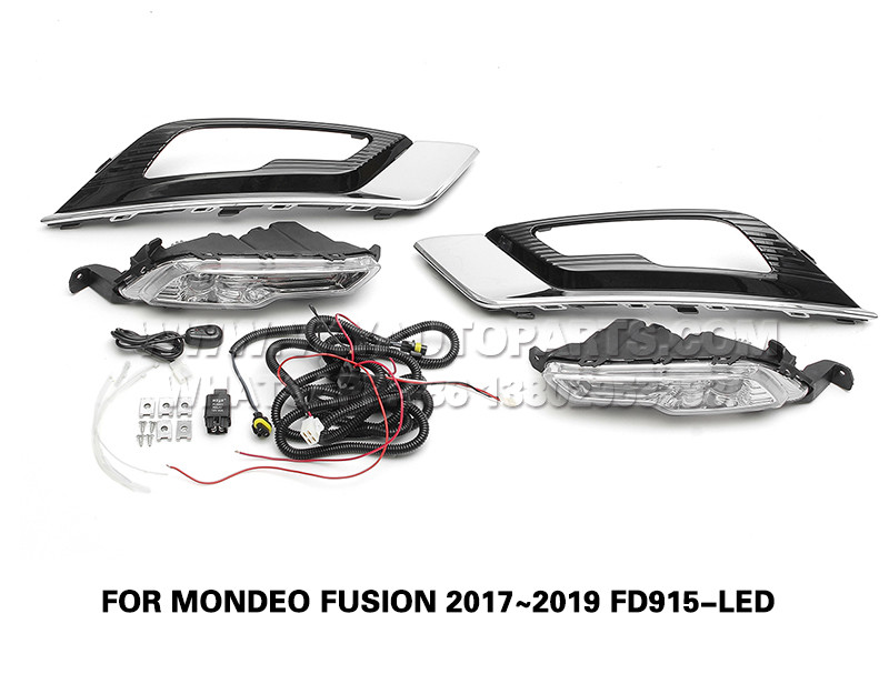 DLAA  drl led Fog Lamp daytime running front Set Bumper Lights FOR MONDEO FUSION 2017~2019 FD915-LED