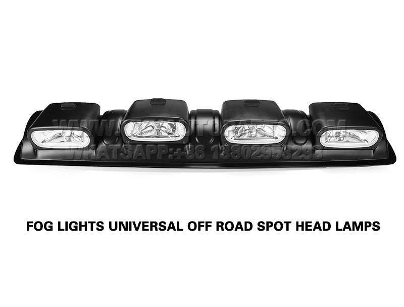 DLAA  12V H3 BLACK CAR 4×4 ROOF TOP BAR FOG LIGHTS UNIVERSAL OFF ROAD SPOT HEAD LAMPS