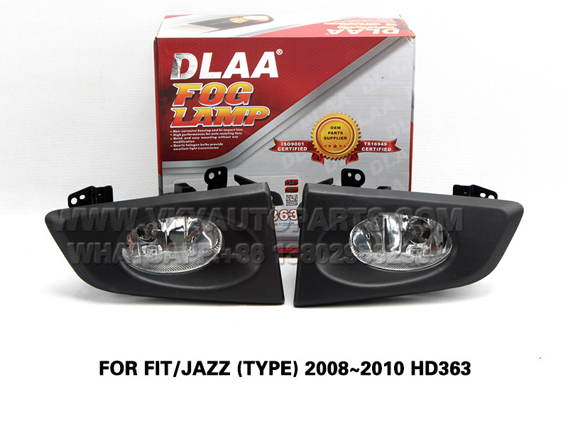 DLAA  Fog Lamp front Set Bumper Lights FOR FIT JAZZ (TYPE) 2008~2010 HD363