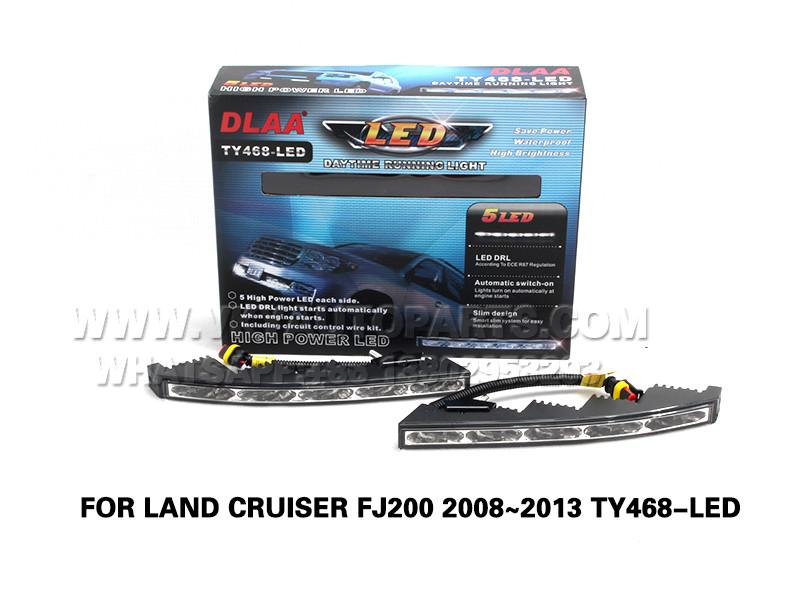 DLAA  Fog Lamp drl led daytime running Front Set Bumper lights FOR LAND CRUISER FJ200 2008~2013 TY468-LED