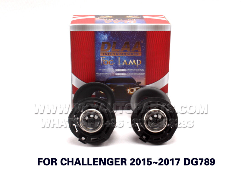 DLAA Fog Lamp ,front Set Bumper Lights, with lens and wire FOR CHALLENGER 2015~2017 DG789