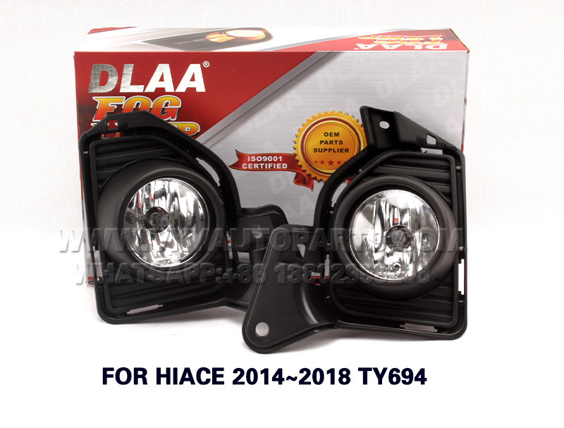 DLAA Fog Lamp, front Set Bumper Lights with wire  FOR HIACE 2014~2018 TY694