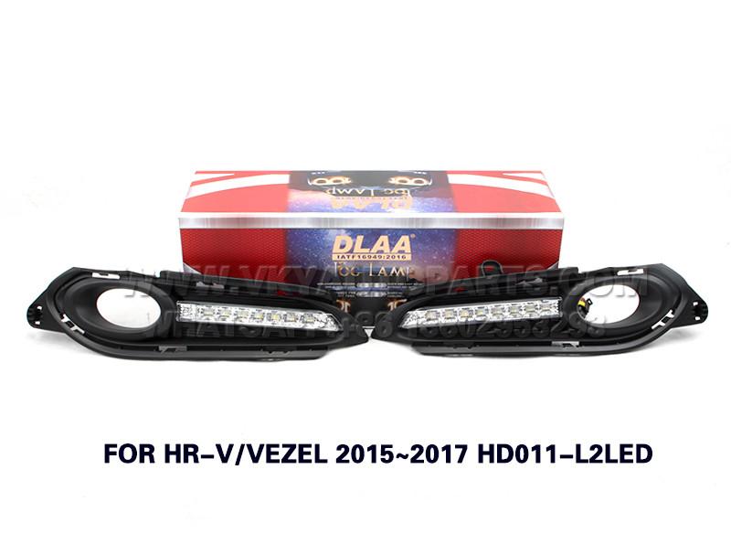 DLAA drl led daytime running lights  Fog Lamp front Set Bumper Lights FOR HR-V VEZEL 2015~2017 HD011-L2LED