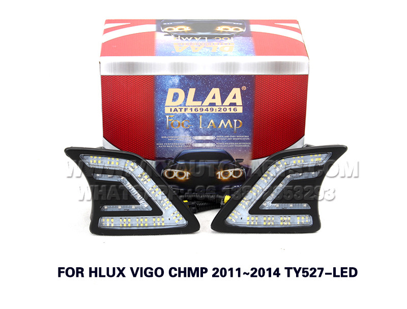 DLAA drl led daytime running lights Fog Lamp front Set Bumper Lights FOR HLUX VIGO CHMP 2011~2014 TY527-LED