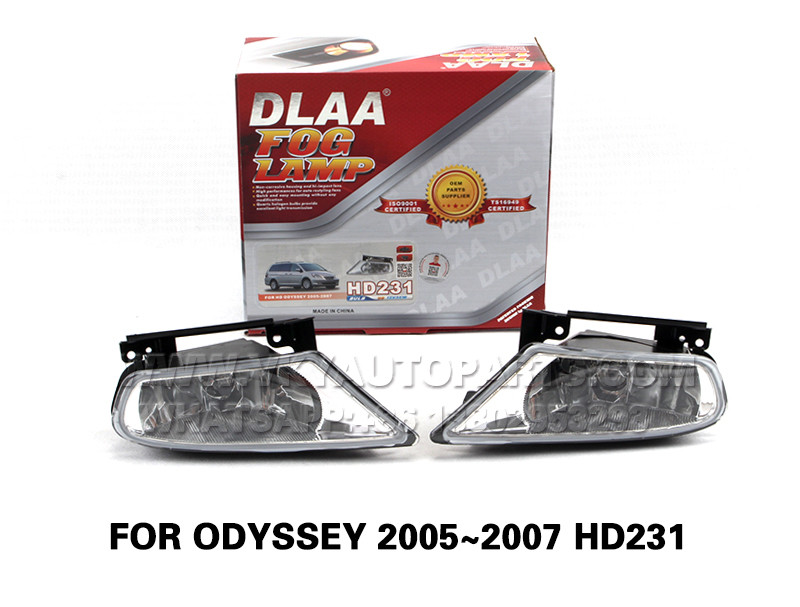 DLAA  Fog Lights front Set Bumper Lamp With wire FOR ODYSSEY 2005~2007 HD231