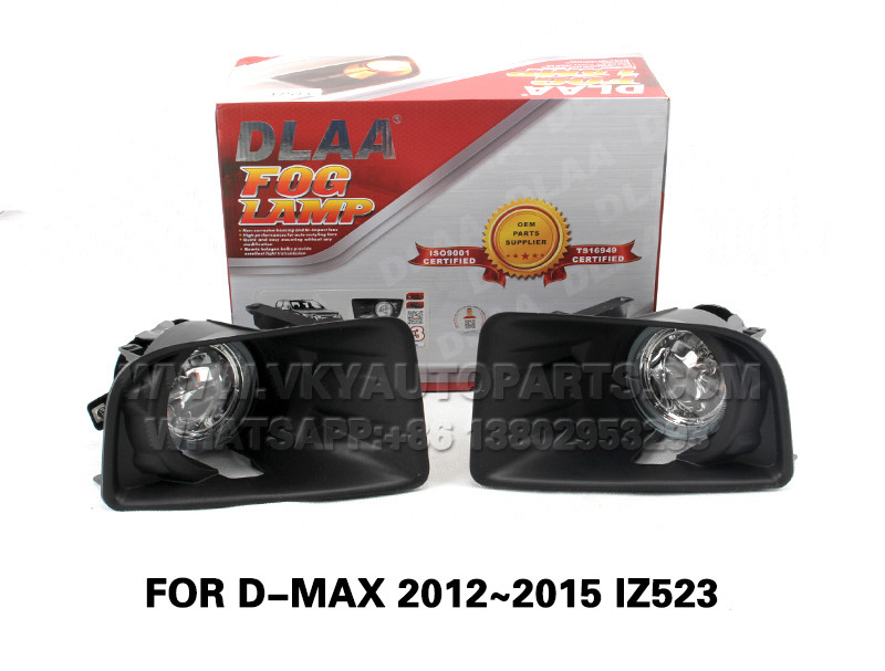 DLAA  Fog Lamp front Set Bumper Lights With wire FOR D-MAX 2012~2015 IZ523