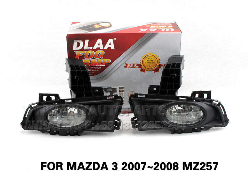 DLAA  Fog Lights front Set Bumper Lights With FOR MAZDA 3 2007~2008 MZ257