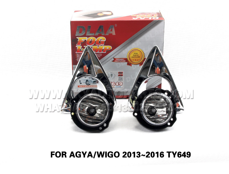 DLAA  Fog Lamps front Set Bumper Lights with wire  FOR AGYA WIGO 2013~2016 TY649