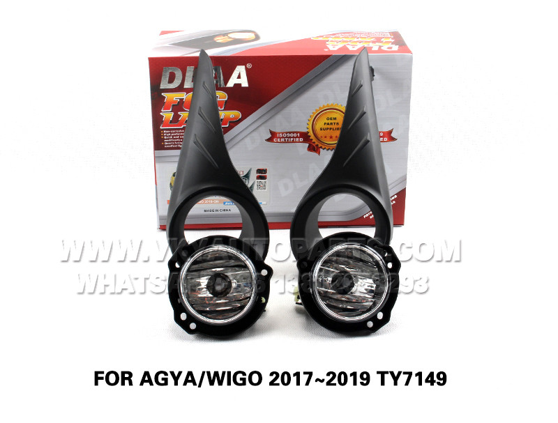 DLAA Fog Lamps front Set Bumper Lights FOR AGYA WIGO 2017~2019 TY7149
