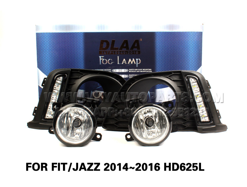 DLAA  drl led daytime running lights Fog Lamps front Set Bumper Lights FOR FIT JAZZ 2014~2016 HD625L