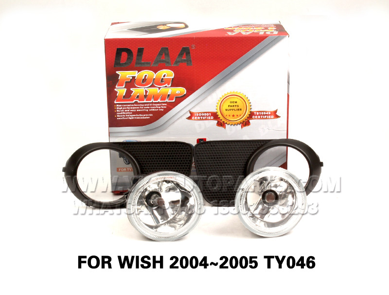 DLAA Fog Lamps front Set Bumper Lights with wire  FOR WISH 2004~2005 TY046
