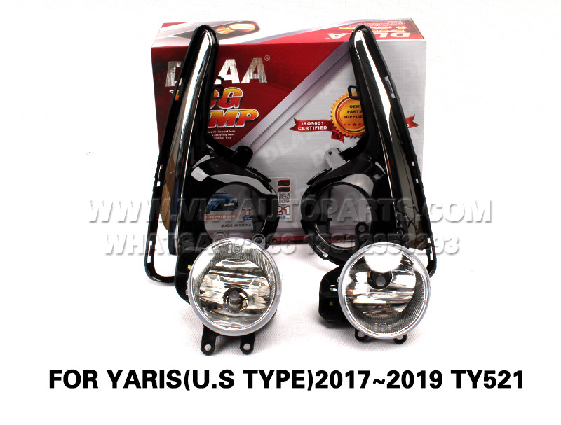 DLAA drl led daytime fog lights front Set Bumper lights for Lamp FOR YARIS(U.S TYPE)2017~2019 TY521