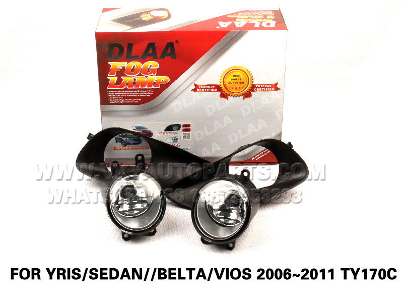 DLAA  Fog Lamps front Set Bumper Lights with wire FOR YRIS SEDAN BELTA VIOS 2006~2011 TY170C