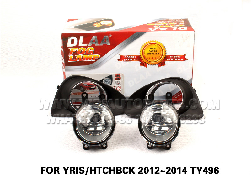 DLAA  Fog Lamps front Set Bumper Lights with wire FOR YRIS HTCHBCK 2012~2014 TY496