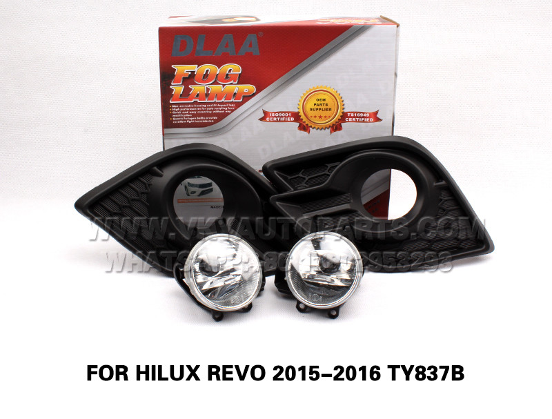 DLAA  Fog Lamps front Set Bumper Lights FOR HILUX REVO 2015-2016 TY837B