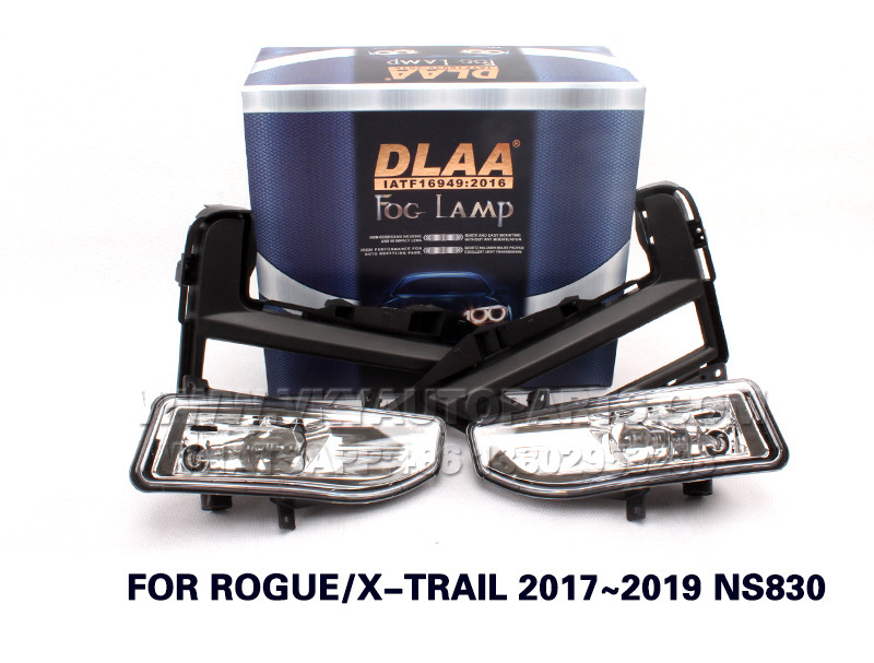 DLAA Fog Lamps front  Set Bumper Lights with wire FOR ROGUE X-TRAIL 2017~2019 NS830