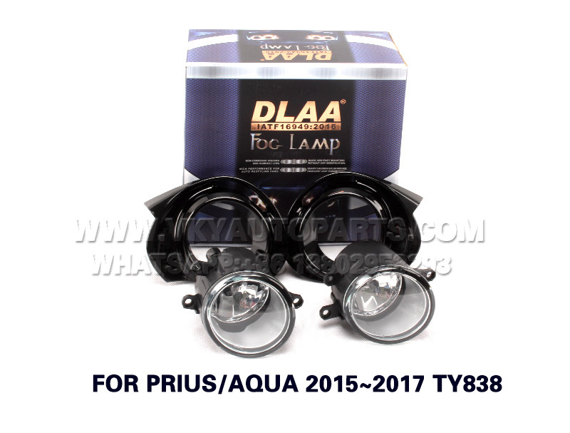 DLAA  Fog Lamps front Set Bumper Lights with wire FOR PRIUS AQUA 2015~2017 TY838